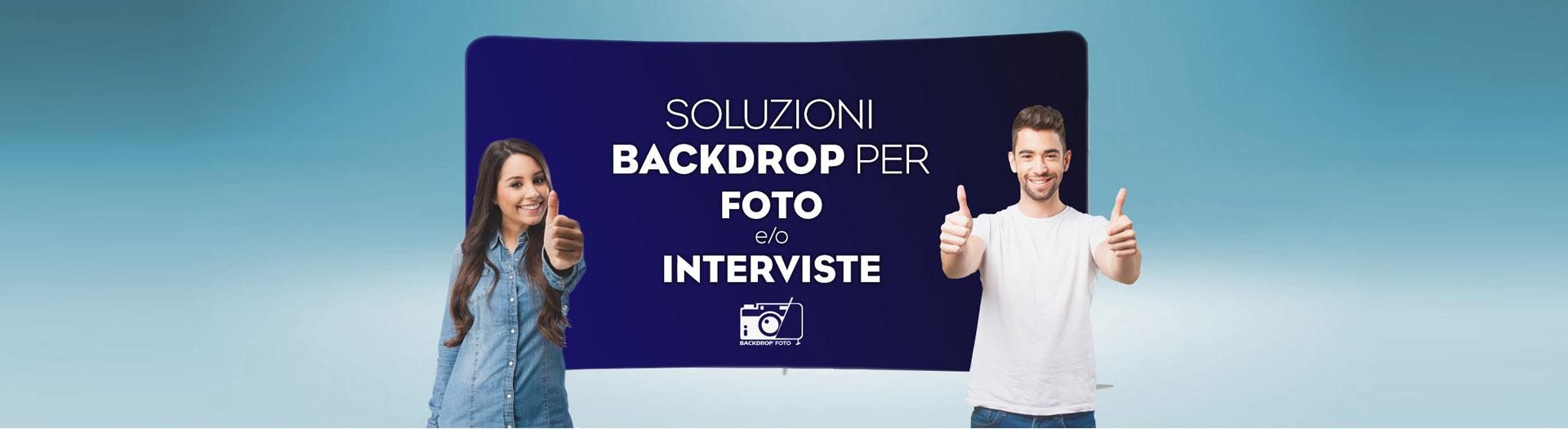 Backdrop botografico, struttura con grafica di sfondo personalizzata