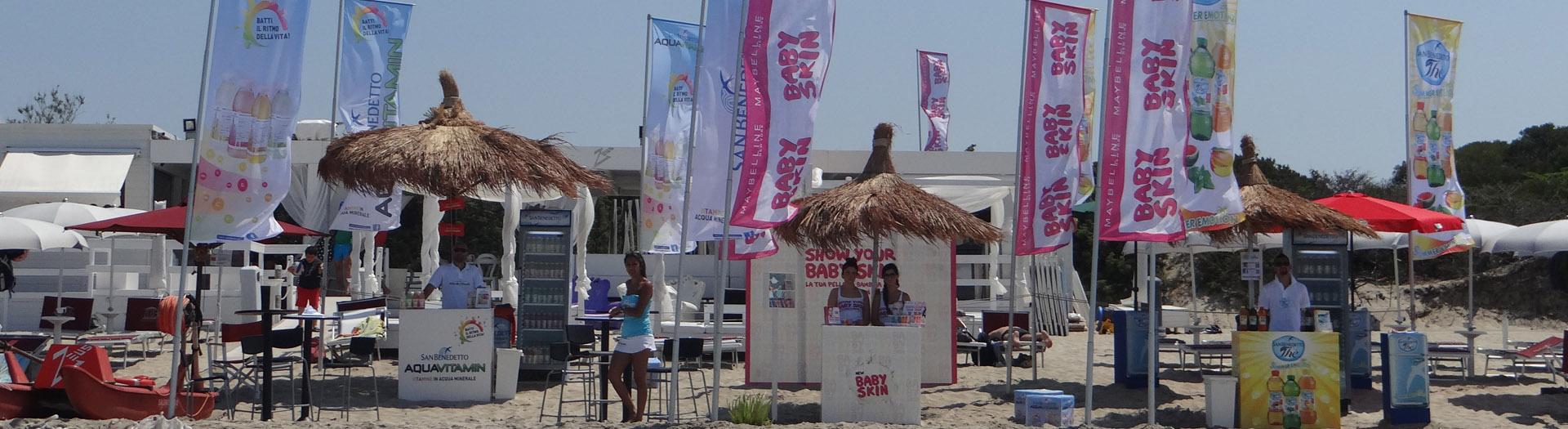 Tour nelle migliori spiagge per aumentare la visibilità del brand tramite contatto diretto con il consumatore finale
