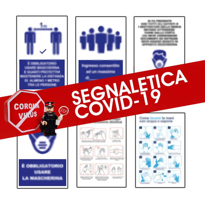 Cartelli segnaletica Covid-19